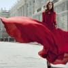 Модные красные платья 2015 (фото стильных образов)