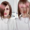 Яркое и модное пиксельное окрашивание волос с фото