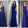 Повседневное и вечернее синее платье в пол (Фото)