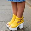 Модные туфли «тракторы». Фото красивых образов