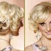 Модные вечерние укладки на средние волосы (Фото)