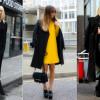 С чем носить черное пальто: фото фасонов