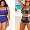 Модные купальники для полных женщин с животом (Фото)