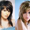Стрижка «дебют» на средние волосы с челкой: фото, укладка