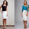С чем правильно носить белую юбку-карандаш (Фото)