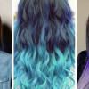 Синие пряди на темных волосах: секреты окрашивания