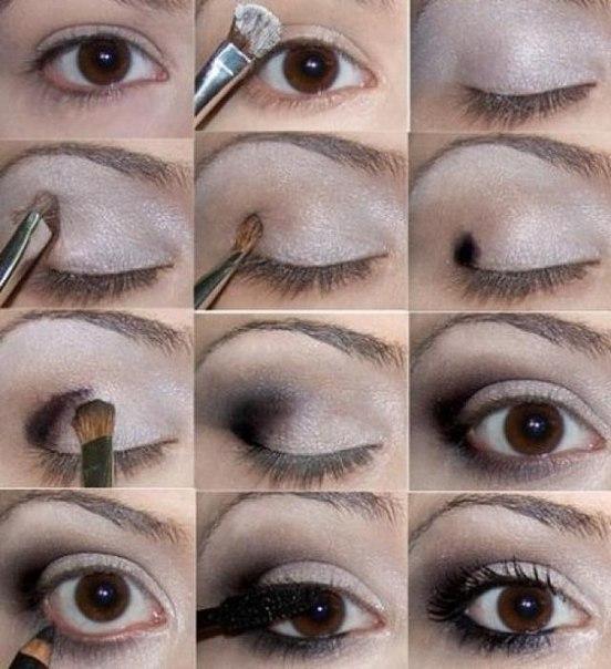 основные этапы макияжа.