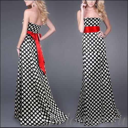 длинное платье горох