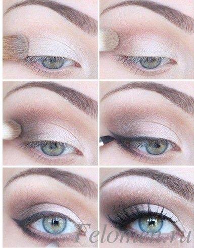макияж серо-голубых глаз фото