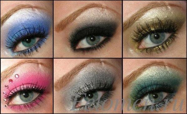 оттенки голубые глаза