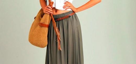 с чем носить длинные юбки