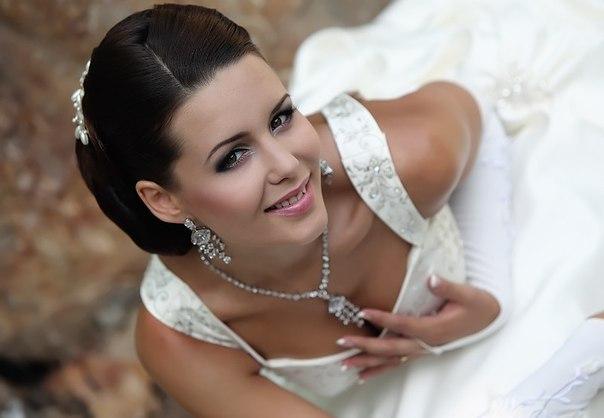 свадебный макияж для брюнеток фото