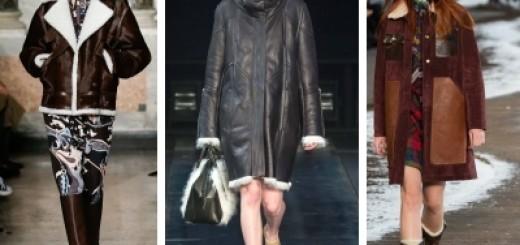 модные дубленки 2014-2015