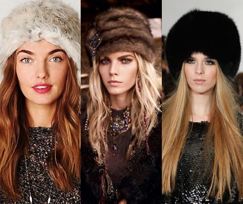 меховые шапки модные