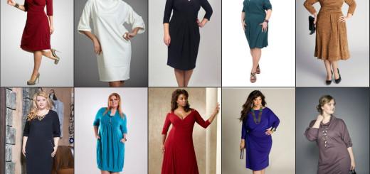 Модные трикотажные платья фото