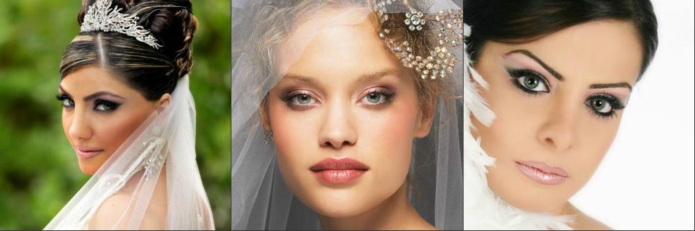 фото свадебного макияжа для зеленых глаз