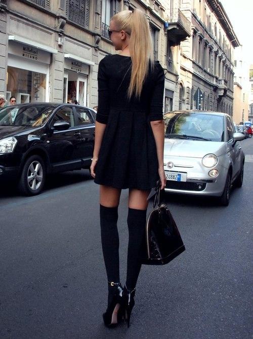 гетры и платье