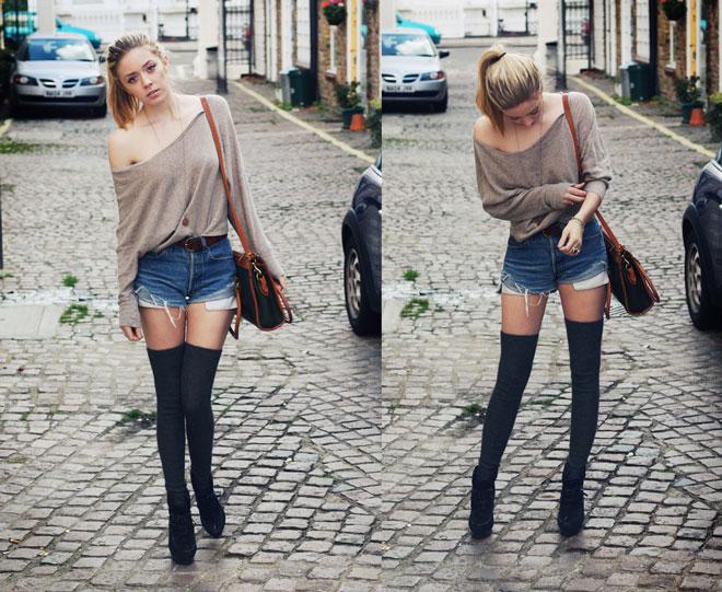 гетры выше колена и шорты