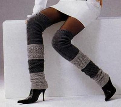 с чем носить гетры выше колена фото