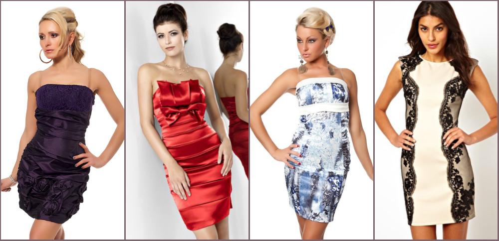 красивые платья футляр