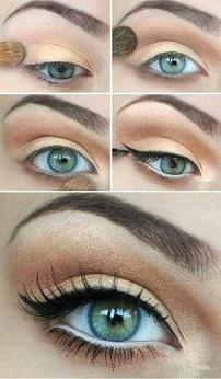 пошагово макияж для зеленых глаз