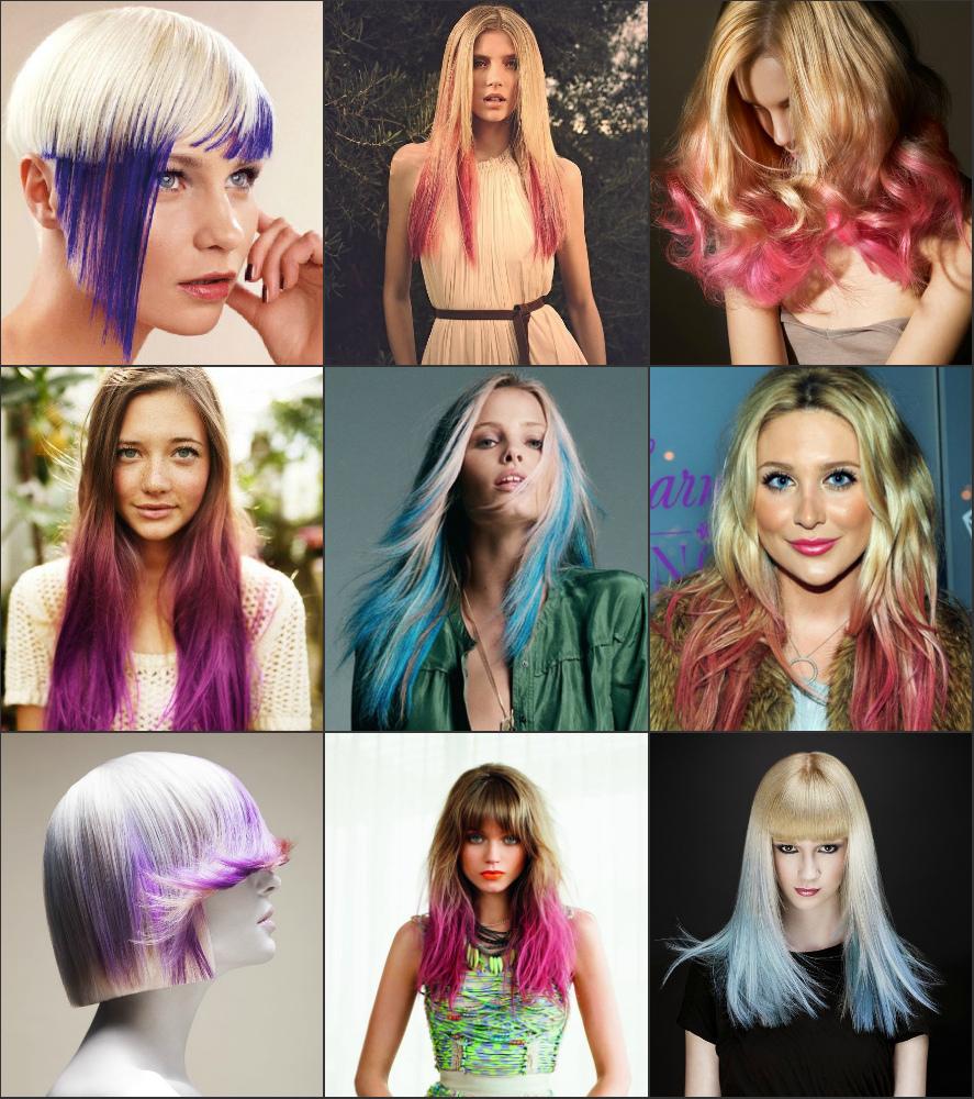 примеры креативного омбре на светлые волосы