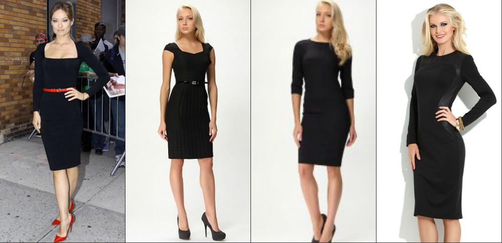 Строгие и лаконичные черные платья