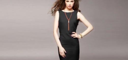 Женственное и красивое черное платье футляр фото модных образов