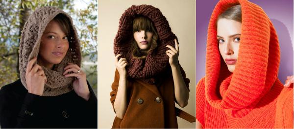как носить шарф-хомут на голове