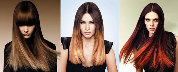 Креативный балаяж на темные волосы фото моделей