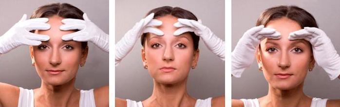 поэтапные упражнения для верхней части лица
