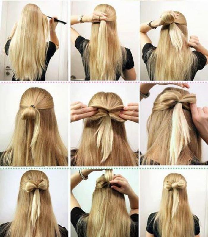 Самый легкий способ сделать бант из волос