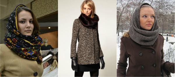сочетание с пальто