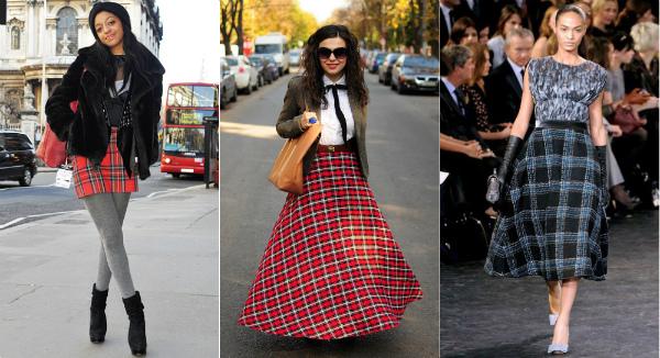 стильный гардероб с шотландкой