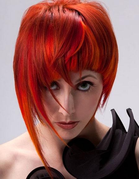 Красивое омбре на рыжих волосах - фото и техника выполнения | Феломена