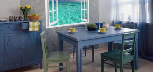 фотообои на кухню возле стола