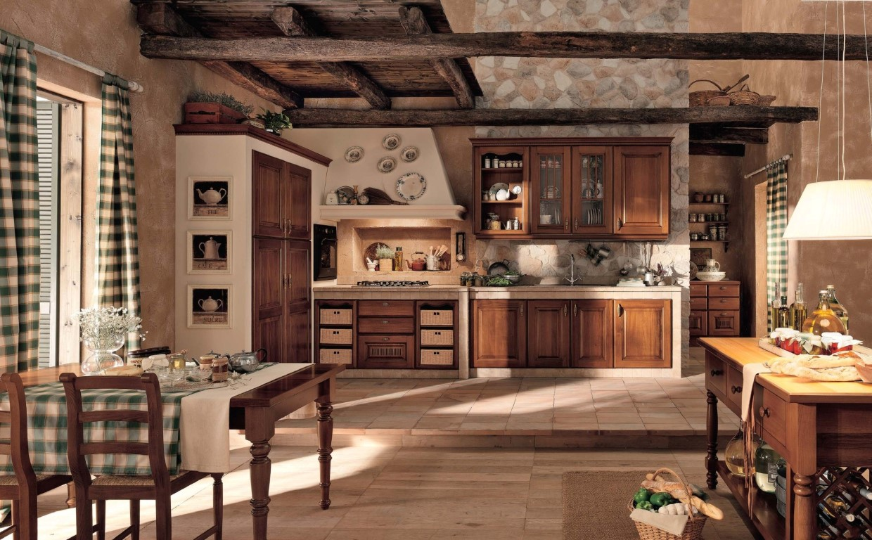 Moderne Kuchen Holz Naturmaterial