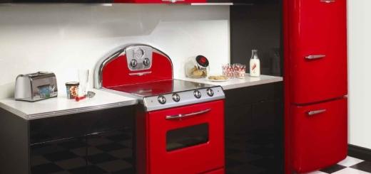 кухня в ретро стиле фото