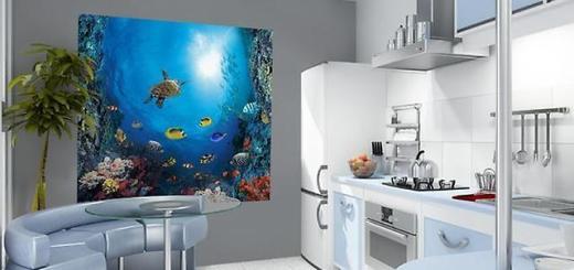 Фотообои с имитацией аквариума