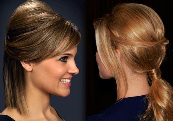 Прическа на короткие волосы с начёсом