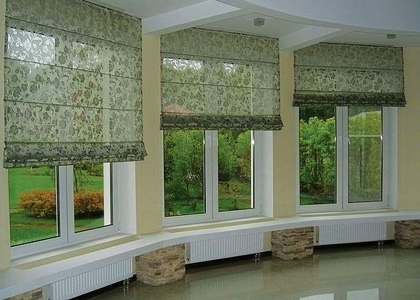 Римские шторы на современные окна