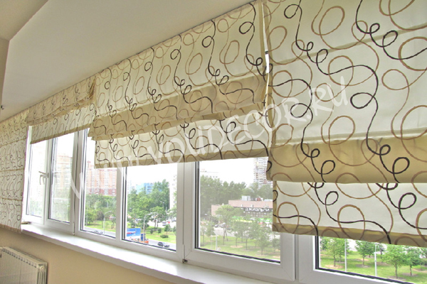 Римские шторы дизайн фото