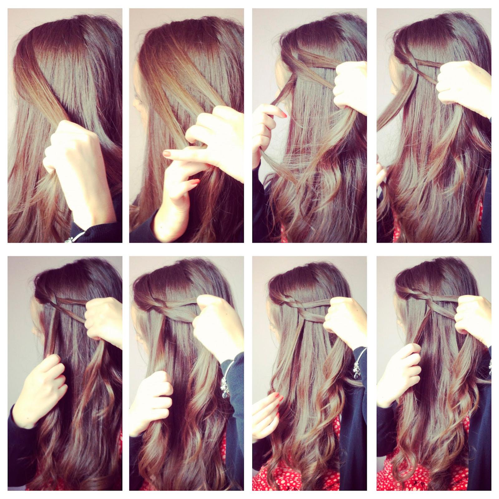Как делать водопад причёска