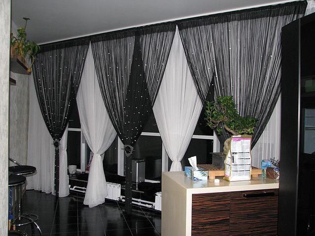 Веревочные шторы дизайн