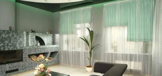 шторы в гостиную в современном стиле фото