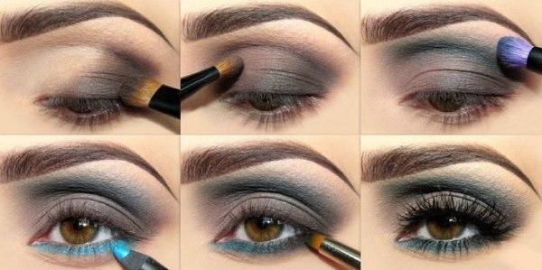 Как красиво накрасить карие глаза тенями пошаговая инструкция фото