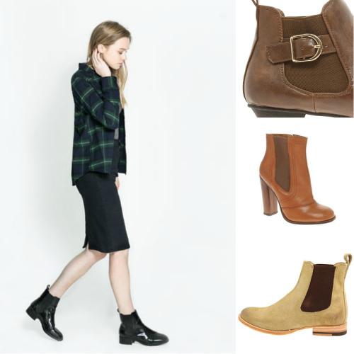 ботинки челси женские с чем носить