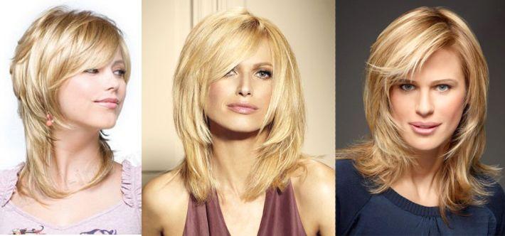 Укладка причёски каскад фото на средние волосы