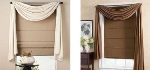 короткие шторы в спальню фото