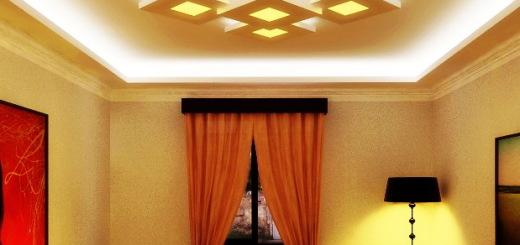 парящий потолок фото